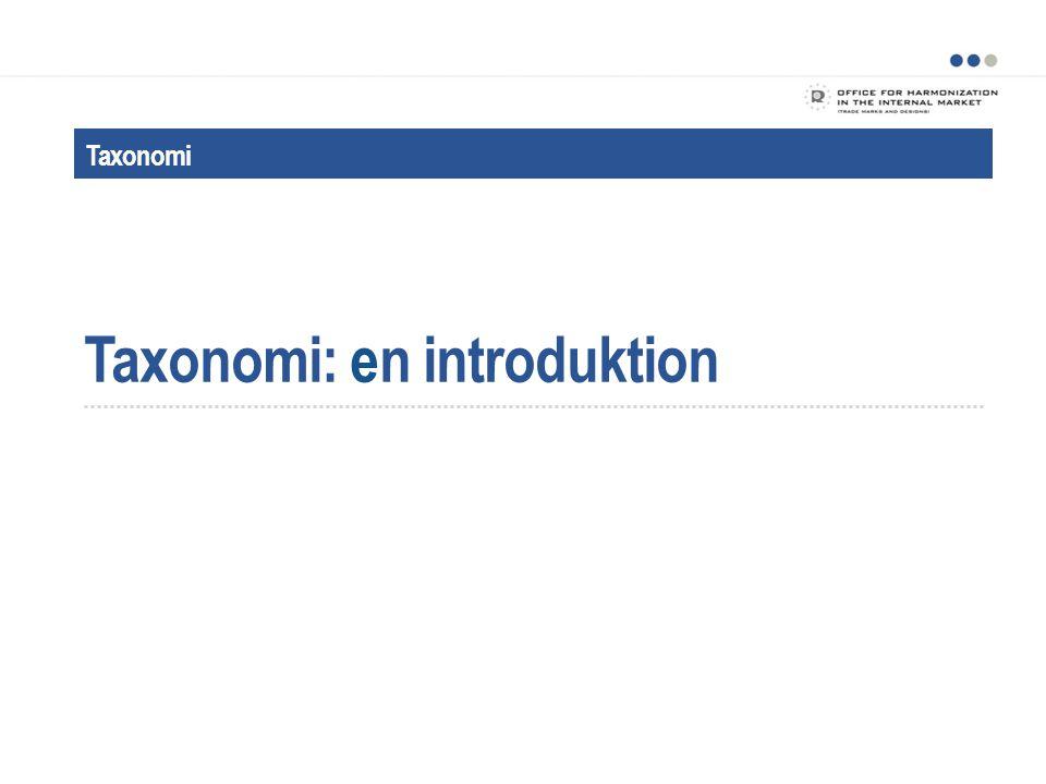 Vad är taxonomi?
