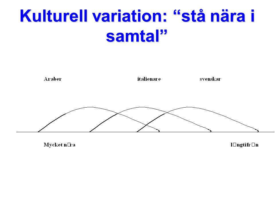 """Kulturell variation: """"stå nära i samtal"""""""