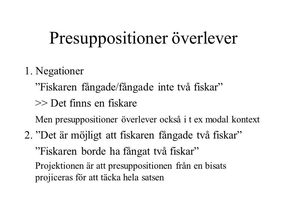 Presuppositioner överlever 1.