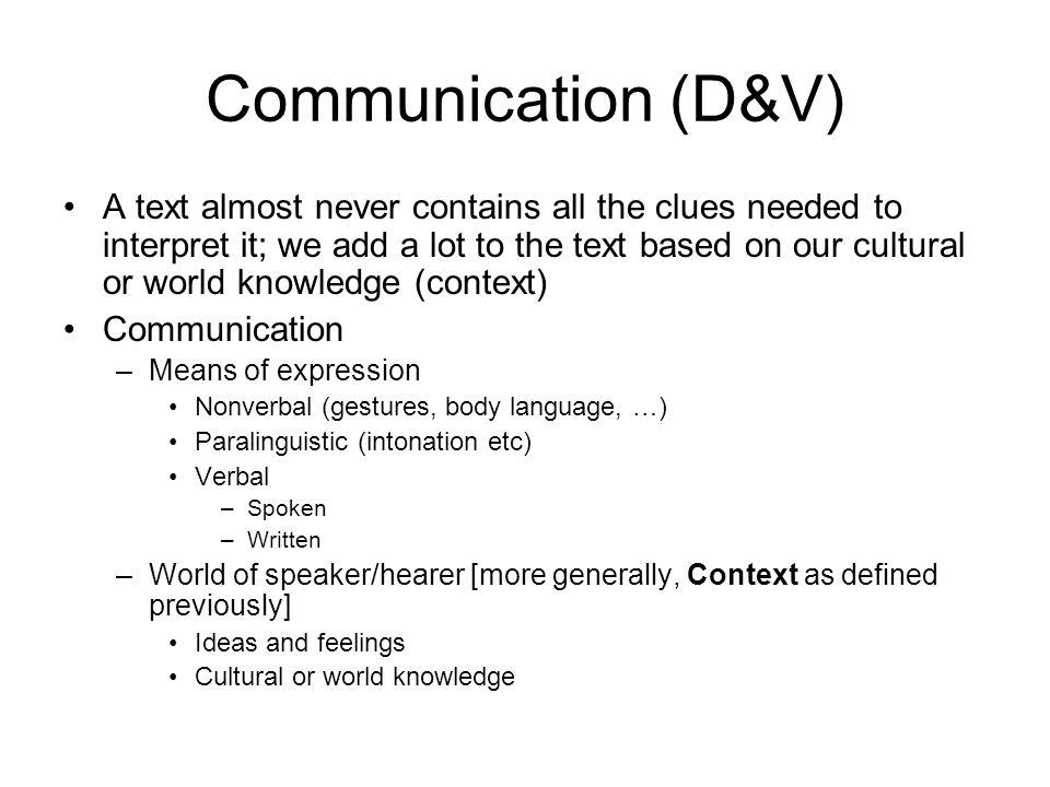 Dialogspel som tyst kunskap Kunskap om språkspelen är gemensam i en språkgemenskap –varje språk består av en repertoar av språkspel, vilka inkluderar konventioner för hur uttryck i språket ska tolkas Deltagare i ett dialogspel känner till reglerna implicit –på så sätt att de vet vad de ska göra, t ex om någon ställer en fråga ska man svara.