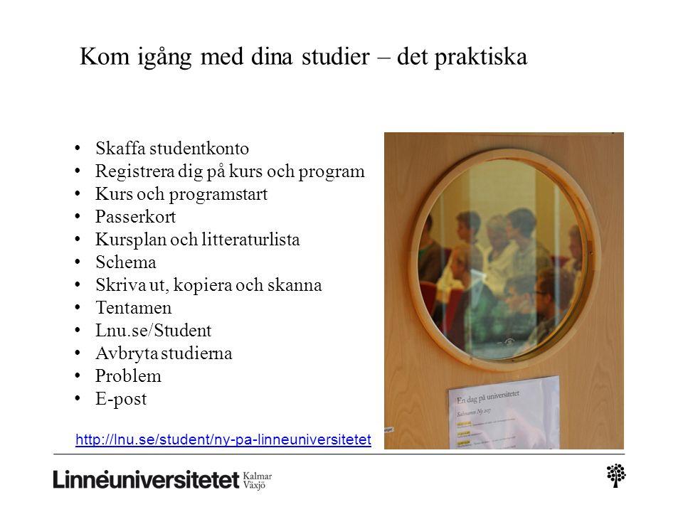 Schema Logga in på Lnu.se/student Dina kurser som du är registrerad på finns mitt på sidan Här hittar du ditt schema