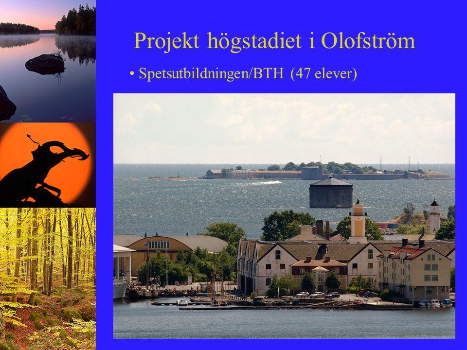 Projekt högstadiet i Olofström Spetsutbildningen/BTH (47 elever)