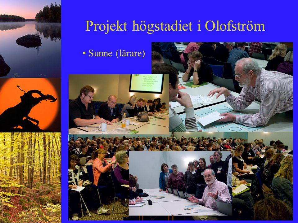 Projekt högstadiet i Olofström Sunne (lärare)