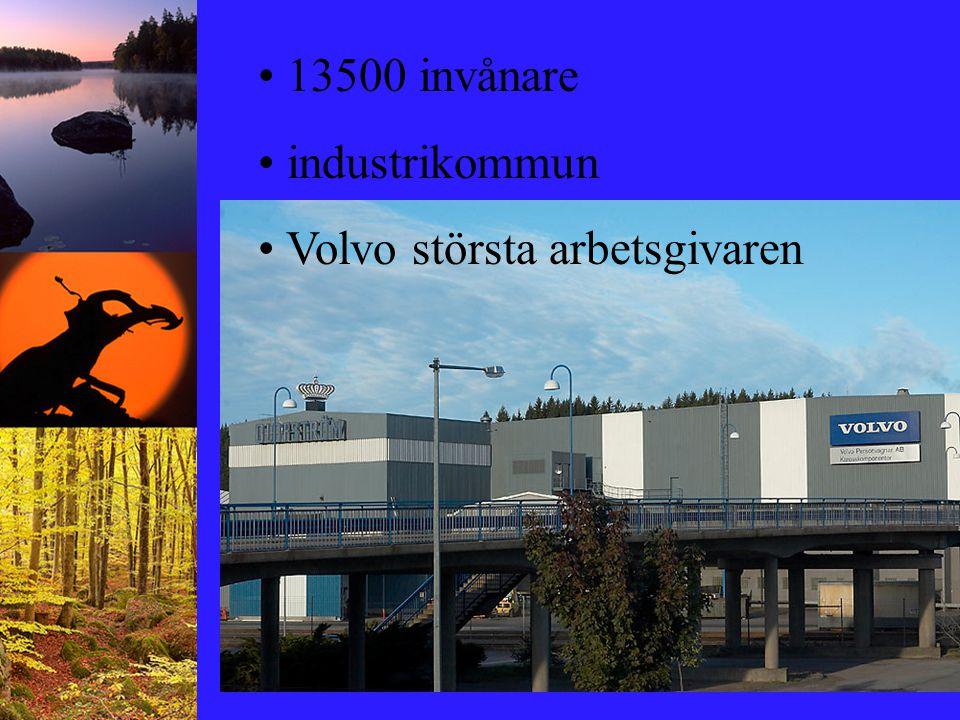 13500 invånare industrikommun Volvo största arbetsgivaren