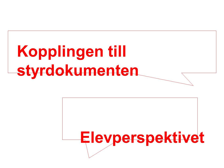 Kopplingen till styrdokumenten Elevperspektivet