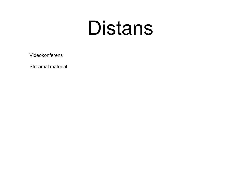 Distans Videokonferens Streamat material