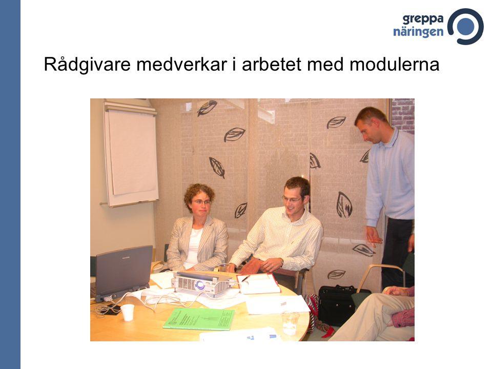 Rådgivare medverkar i arbetet med modulerna