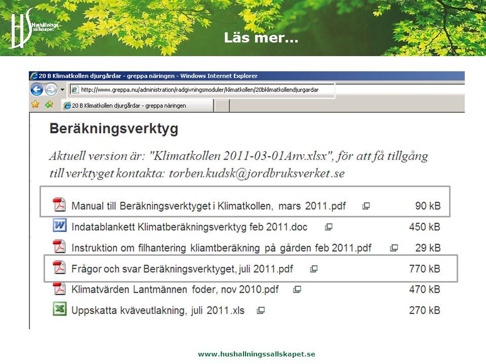 www.hushallningssallskapet.se Läs mer…