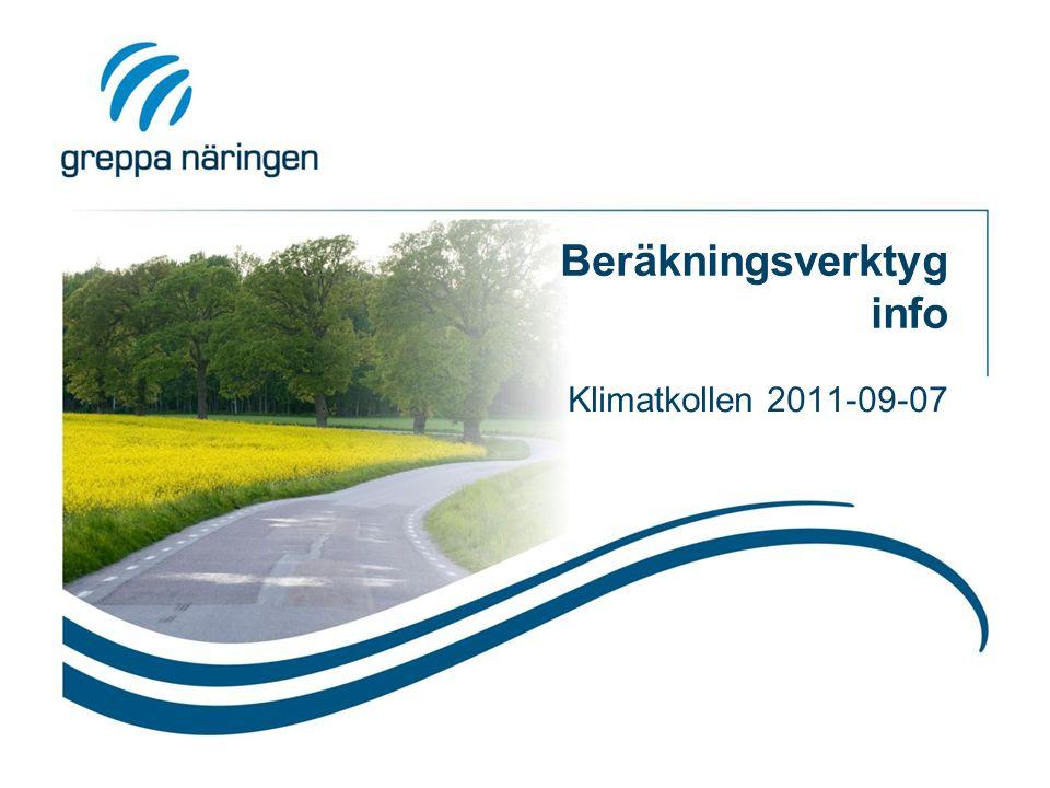 Beräkningsverktyg info Klimatkollen 2011-09-07