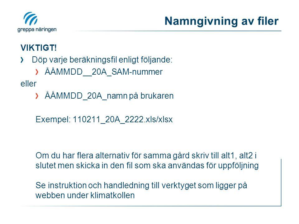 Namngivning av filer VIKTIGT.