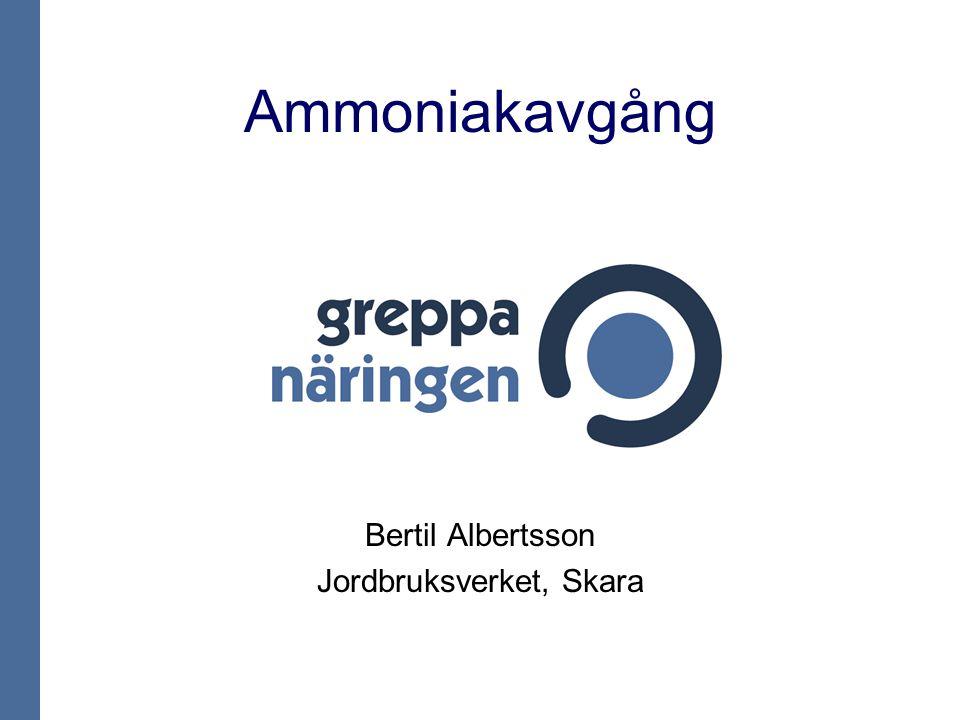 Faktorer som påverkar ammoniakavgången Temperatur Luftväxling Gödselytans storlek Gödselns egenskaper, t.ex.