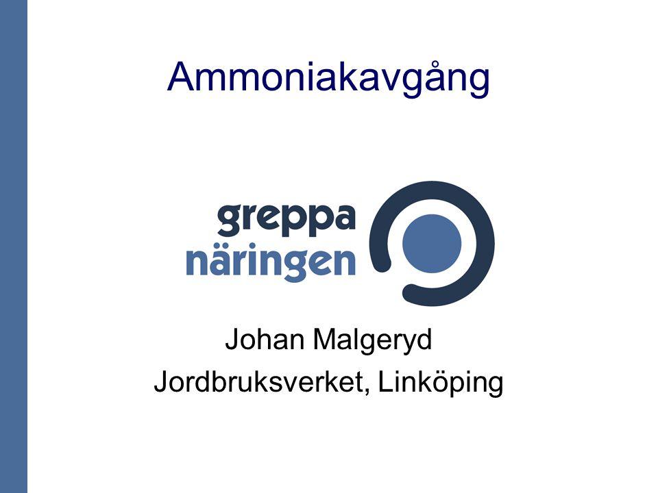 Ammoniakavgång Johan Malgeryd Jordbruksverket, Linköping
