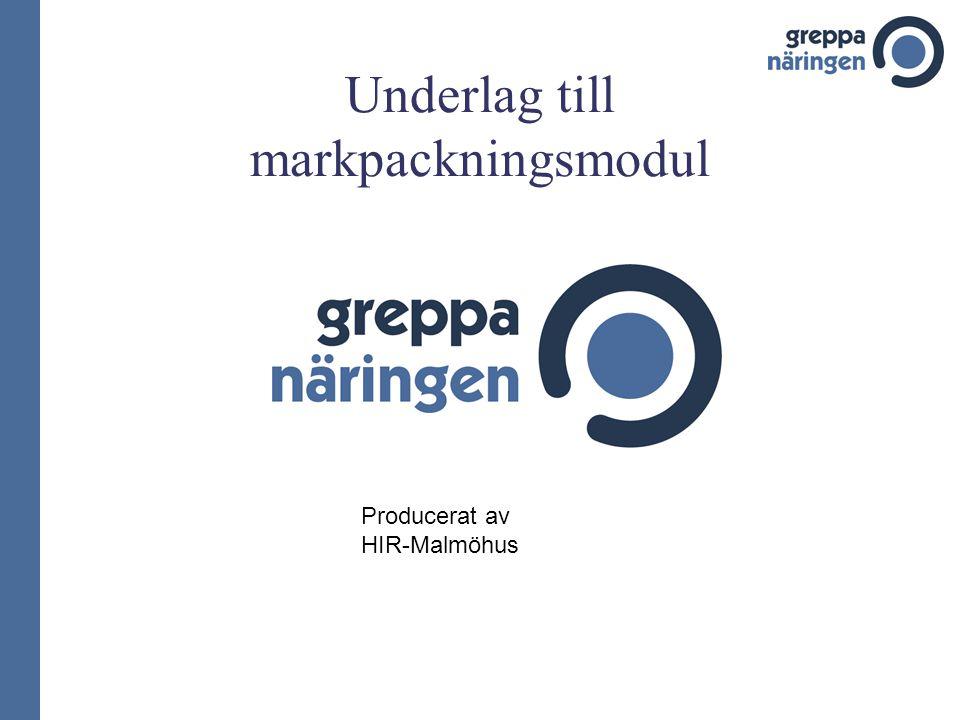 Underlag till markpackningsmodul Producerat av HIR-Malmöhus