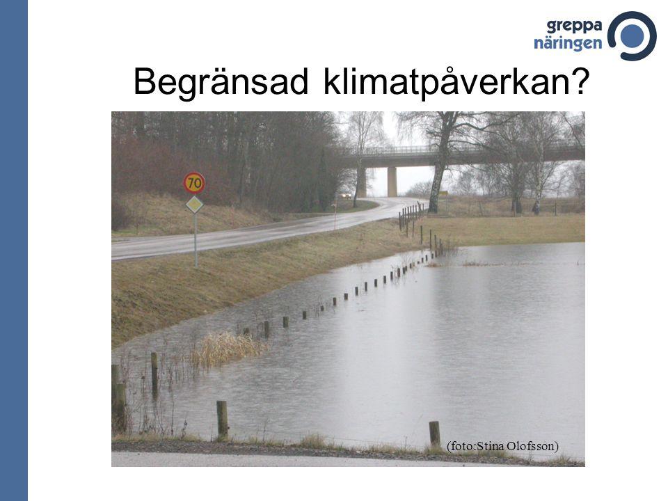 Begränsad klimatpåverkan (foto:Stina Olofsson)