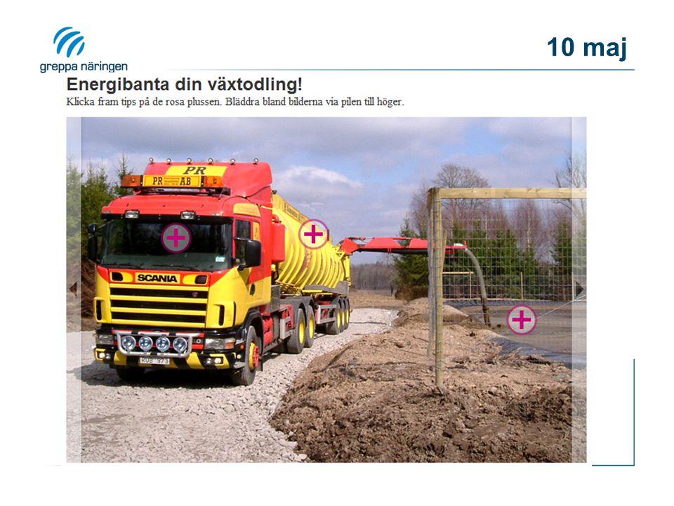 Program 10 maj Tid Innehåll Lantbruk Föreläsare 8,00-8,20Svinproduktion energianvändning LN 8,20-9,05Spannmålskonservering, torkning och lagring Christer Johansson 9,05-10,00Traktorer och dieselförbrukning Energi i växtodlingen CJ 10,00-10,20Kaffe 10,20-11,30Beräkningsverktyg för energikartläggning LN 11,30-12,30Lunch 12,30-13,20Forts Beräkningsverktyg för energikartläggning 13,20-14,05Att genomföra gårdsbesök energieffektivisering DH 14,05-14,35Ekonomi LN/DH 14,35-14,50Energikartläggningscheckar från Energimyndigheten EE 14,50-15,10Avslutning PK 15,10-15,30Kaffe