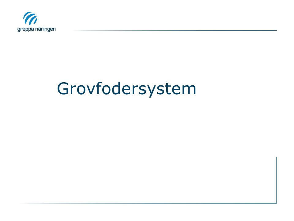 Grovfodersystem