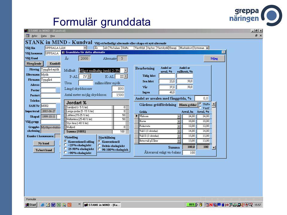 Formulär grunddata