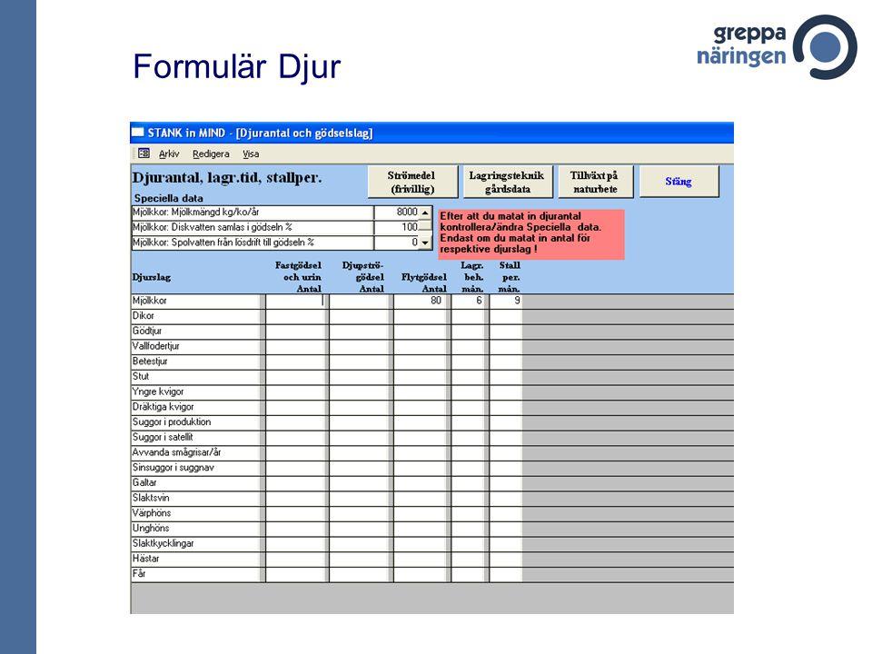 Formulär Djur