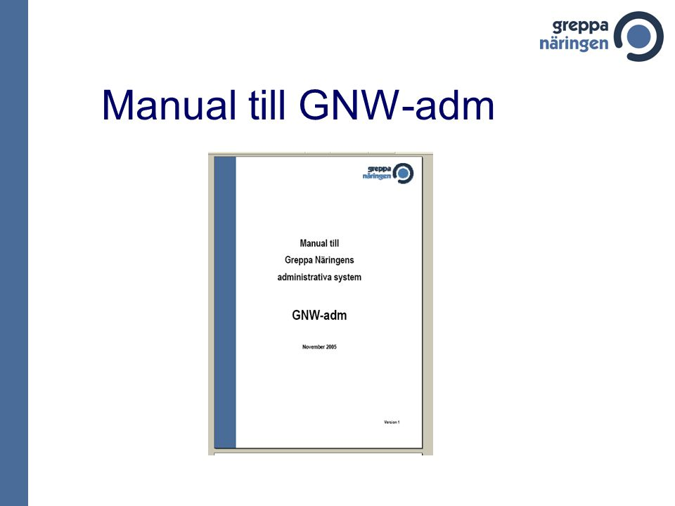 Manual till GNW-adm