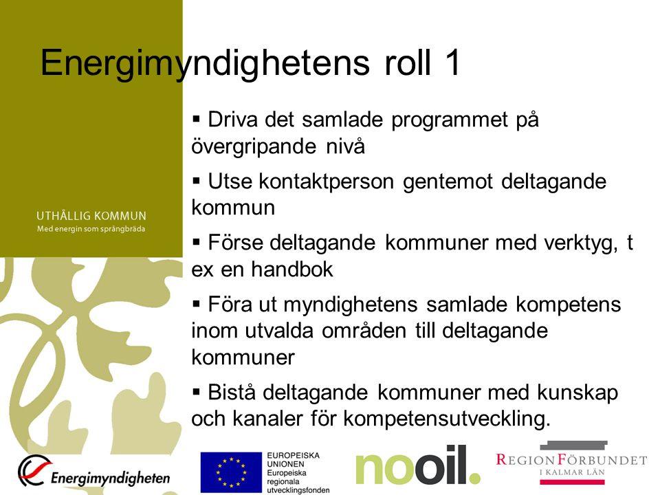 Uthållig kommun i Kalmar län Handlingsprogram för fossilbränslefri region –Energi och miljö som tillväxtfaktor –Fossilbränslefritt 2030 - inget nettoutsläpp av fossil koldioxid från Kalmar län –Vindkraft ska utgöra en betydande del i arbetet för en fossilbränslefri region.