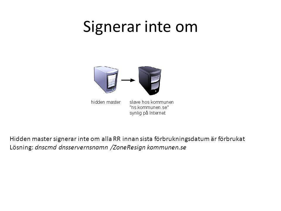 TTL på noll sekunder Torsas.se fick 0 sek TTL på sina NS RR Ändrade det till 1 timme, syns fortfarande inte vad det är.