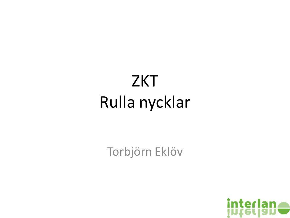 ZKT Rulla nycklar Torbjörn Eklöv