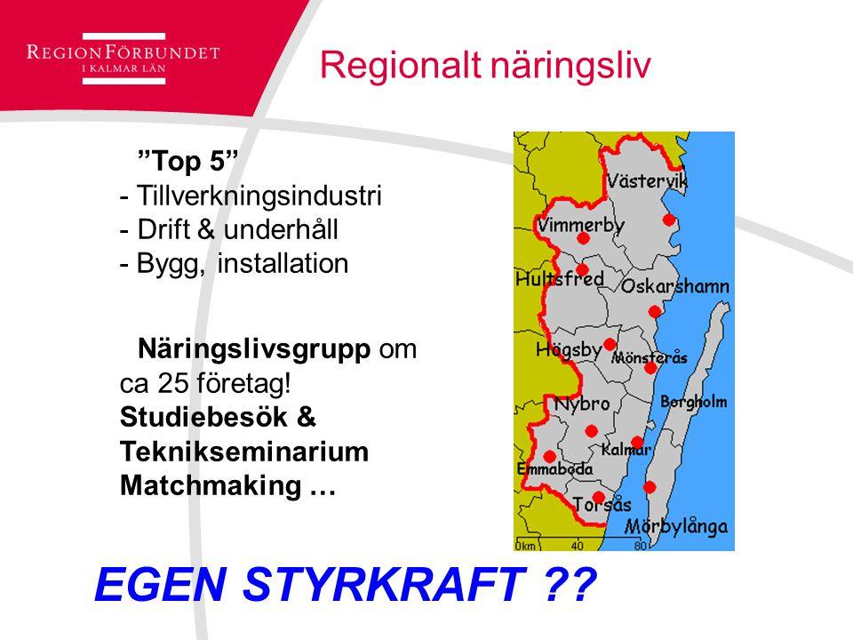 Top 5 - Tillverkningsindustri - Drift & underhåll - Bygg, installation Näringslivsgrupp om ca 25 företag.