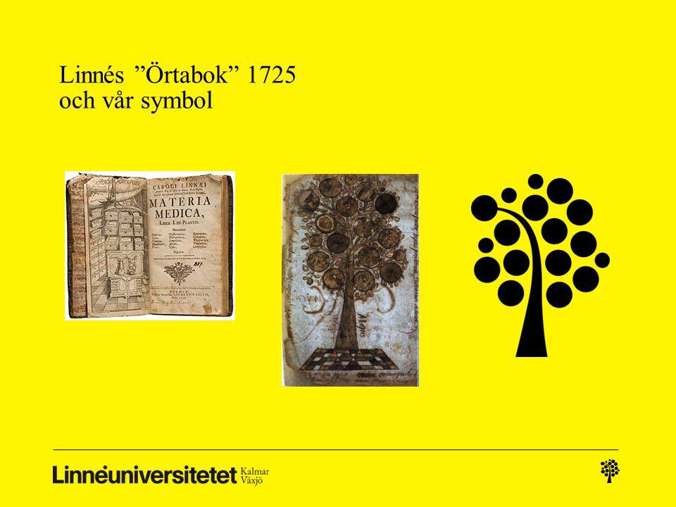 """Linnés """"Örtabok"""" 1725 och vår symbol"""