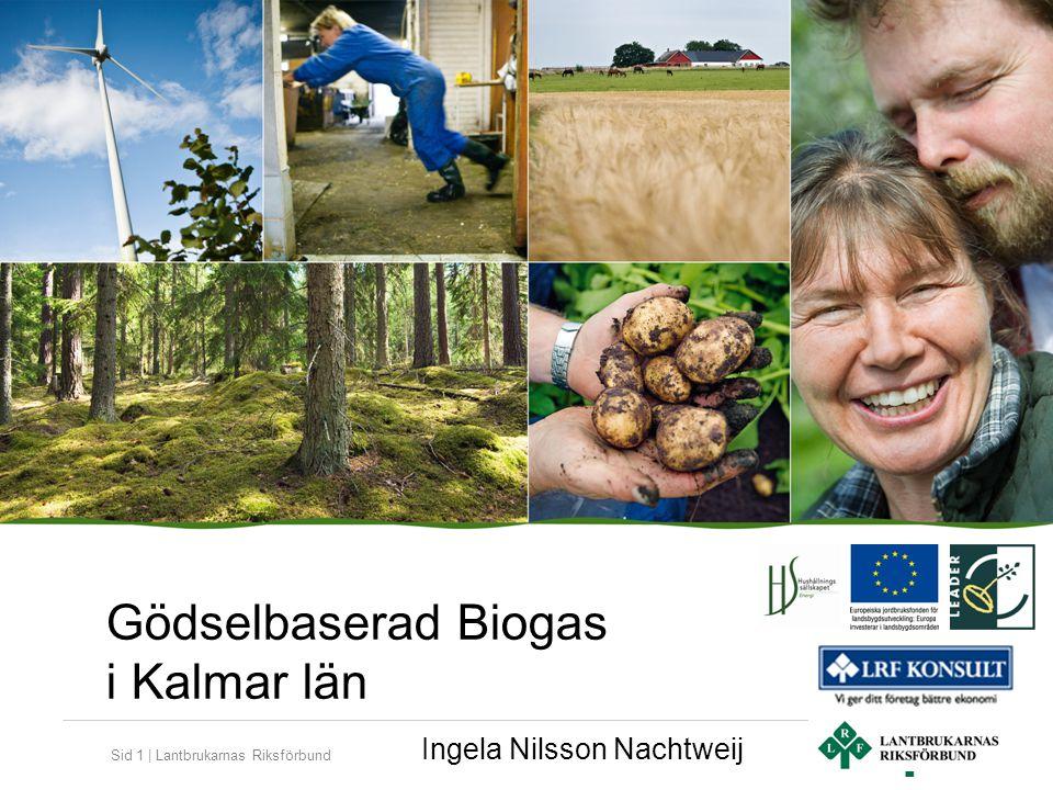 Sid 2   Lantbrukarnas Riksförbund More Biogas Småland AB En lantbrukare fick en idé år 2008 om samverkan kring biogasproduktion i Norra Möre, 5 lantbrukare deltog i affärsutvecklingsgrupp med Pelle Hallén på LRF Konsult Förstudie med LRF Sydost som projektägare och finansierad av Kalmar Öland Landsbygd via LEADER, klar jan-2011, 20 lantbrukare deltog Bolag bildades med 18 lantbrukare + Läckeby Water som delägare i mars 2011