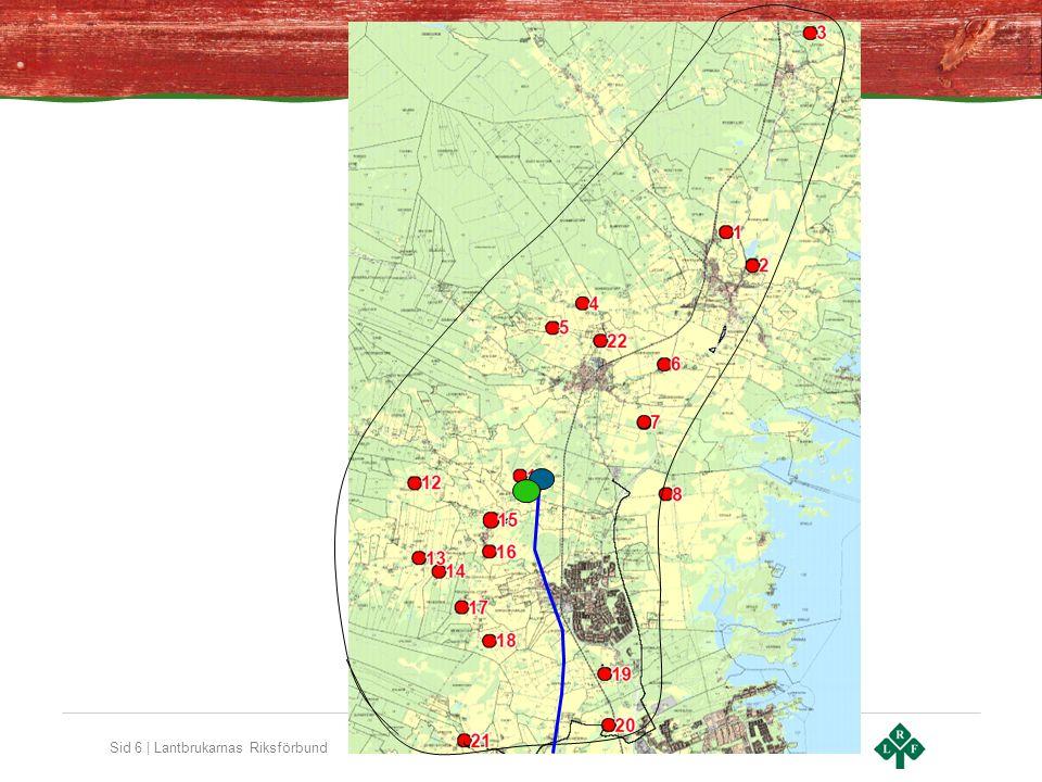 Sid 7   Lantbrukarnas Riksförbund Motiv för en anläggning Uteslutet att bygga en anläggning på varje gård Gemensam anläggning kräver substratflyttning och hygienisering Större anläggningar lägre total investering Färre anläggningar lägre driftskostnader Hygiensering billigare med färre anläggningar Fyllning och tömning stor andel av transportkostnad Körsträckan spelar mindre roll Kortare gasledning Billigare uppgradering Bättre o billigare energianvändning Totalt lägre produktionskostnad