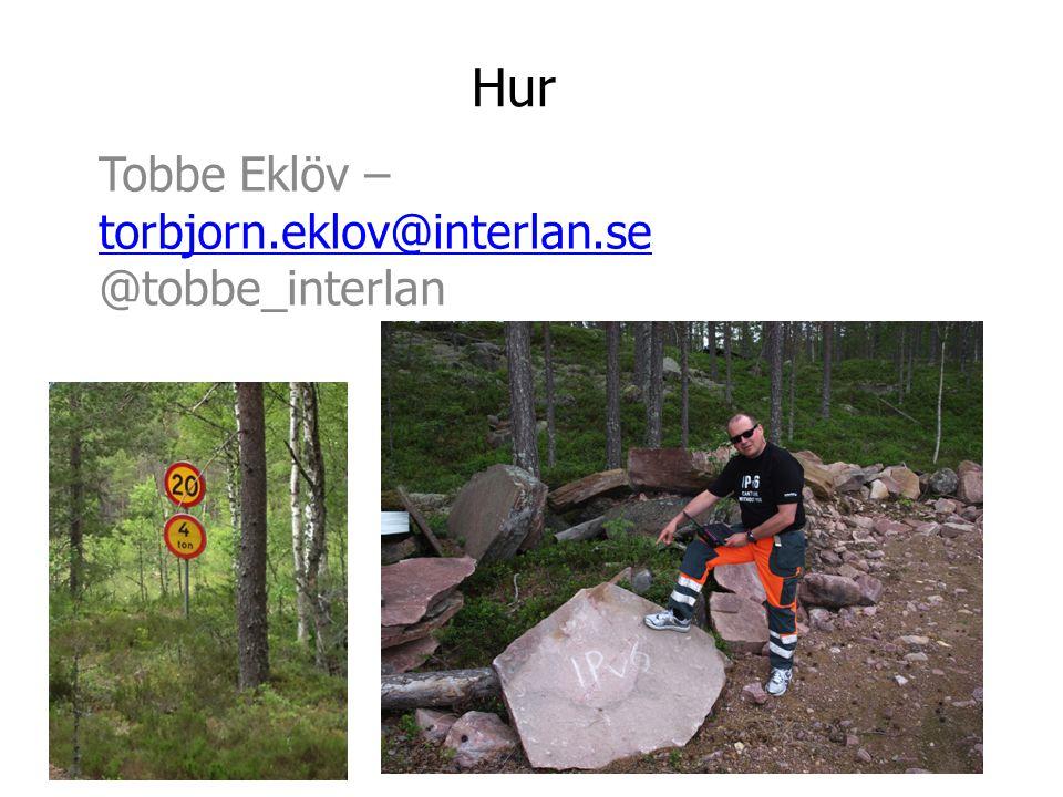 Hur Tobbe Eklöv – torbjorn.eklov@interlan.se torbjorn.eklov@interlan.se @tobbe_interlan