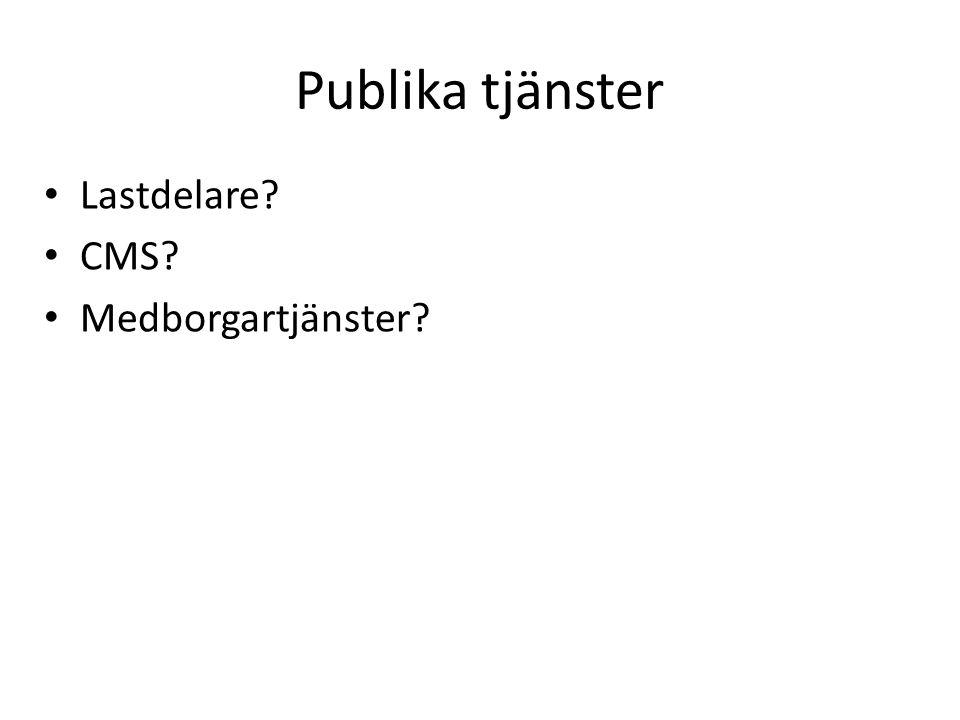 Publika tjänster Lastdelare CMS Medborgartjänster