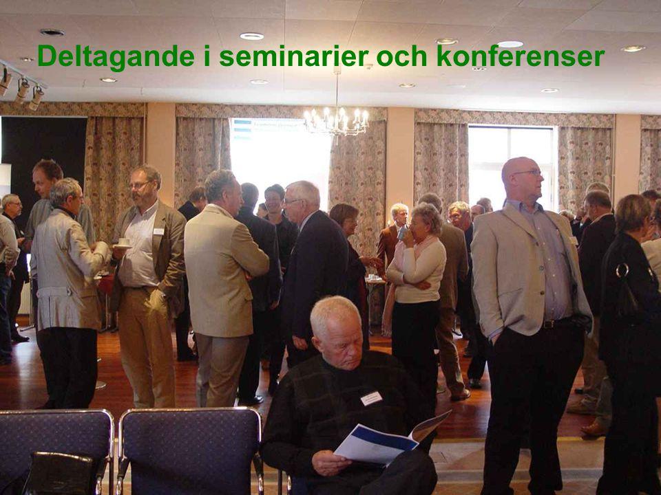 Regionala Godstransportrådet i SmålandOH 14 Deltagande i seminarier och konferenser