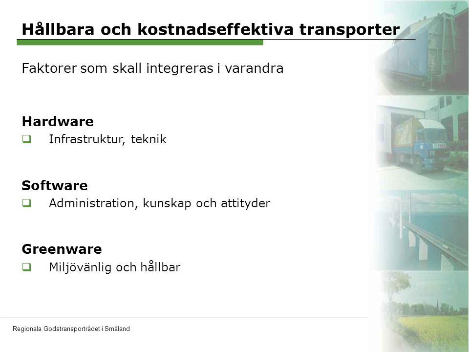 Regionala Godstransportrådet i SmålandOH 16 www.godstransportradet.se