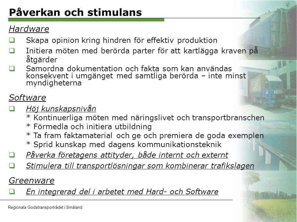 Regionala Godstransportrådet i SmålandOH 7 Nätverkare  Trafikverken  Transportindustriförbundet  Sydsvenska Industri- och Handelskammaren  Företag i Småland