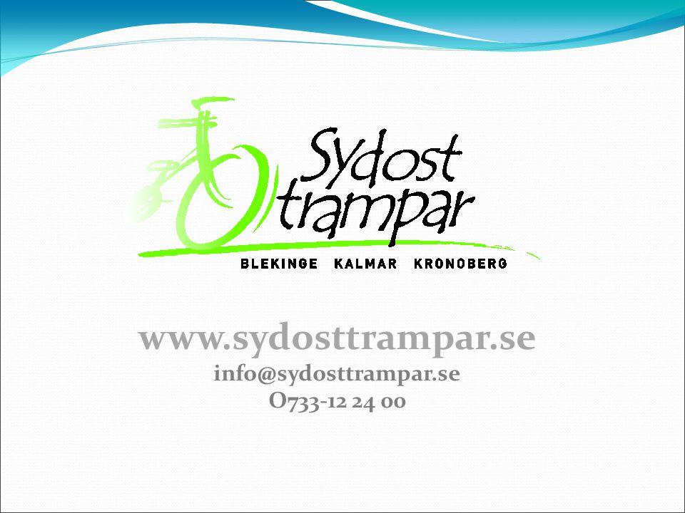 www.sydosttrampar.se info@sydosttrampar.se O733-12 24 00