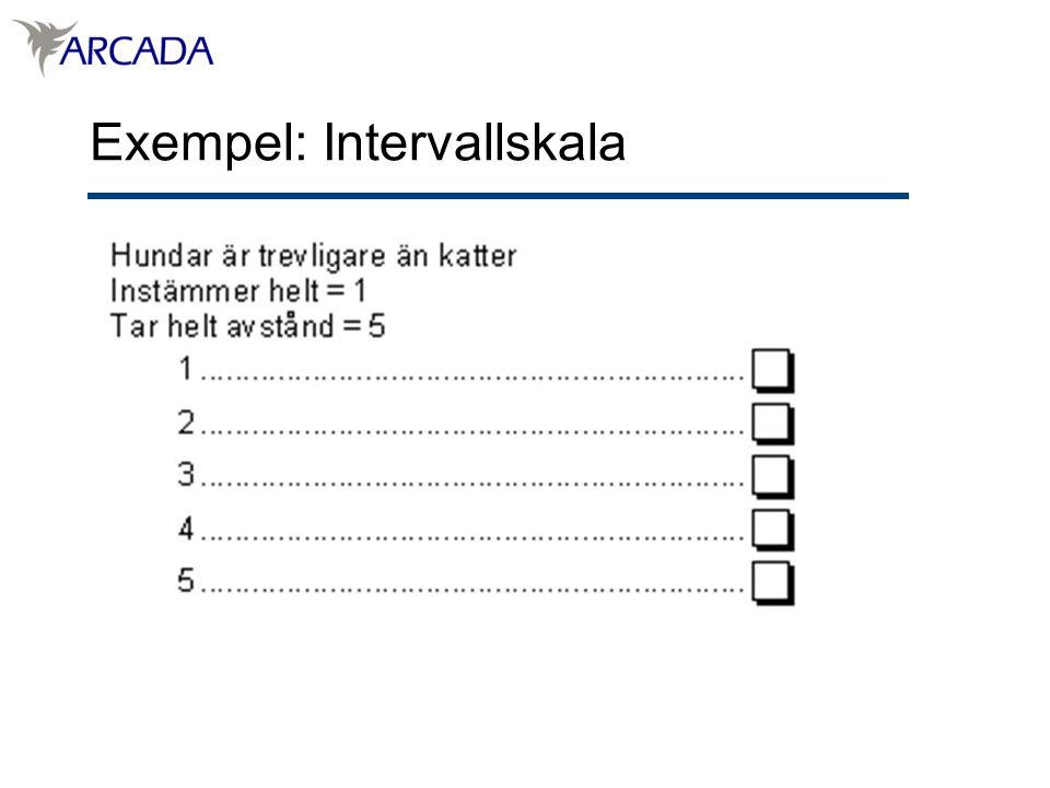 Exempel: Intervallskala