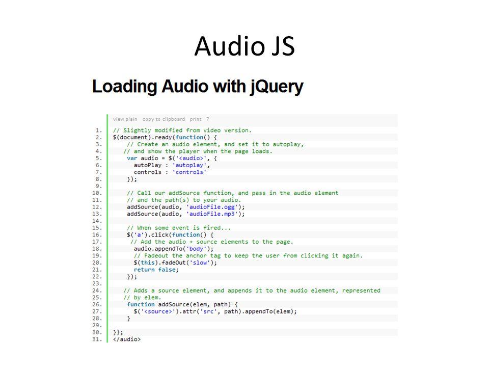 Audio JS