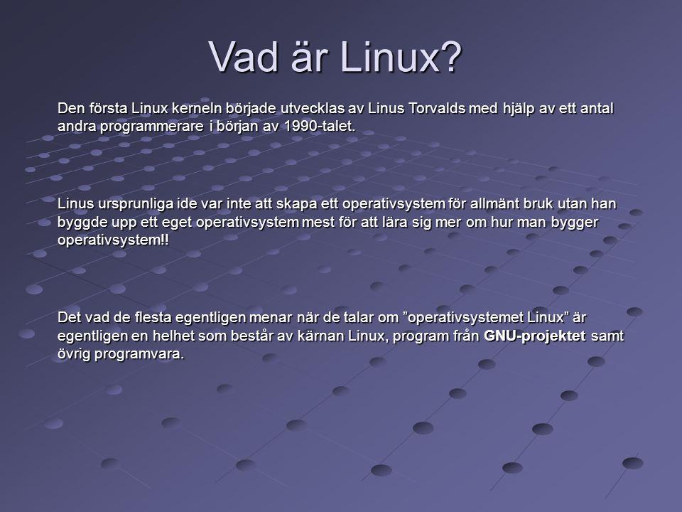 Vad är Linux? Den första Linux kerneln började utvecklas av Linus Torvalds med hjälp av ett antal andra programmerare i början av 1990-talet. Linus ur