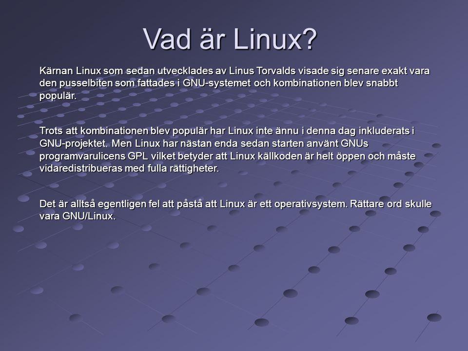 Vad är Linux? Kärnan Linux som sedan utvecklades av Linus Torvalds visade sig senare exakt vara den pusselbiten som fattades i GNU-systemet och kombin