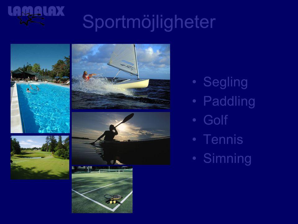 Sportmöjligheter Segling Paddling Golf Tennis Simning