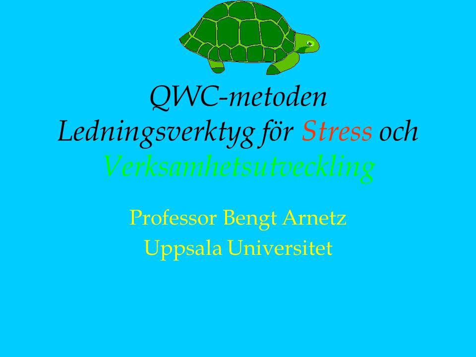 QWC-metoden Ledningsverktyg för Stress och Verksamhetsutveckling Professor Bengt Arnetz Uppsala Universitet