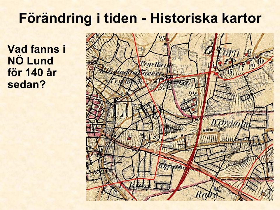 Förändring i tiden - Historiska kartor Vad fanns i NÖ Lund för 140 år sedan?