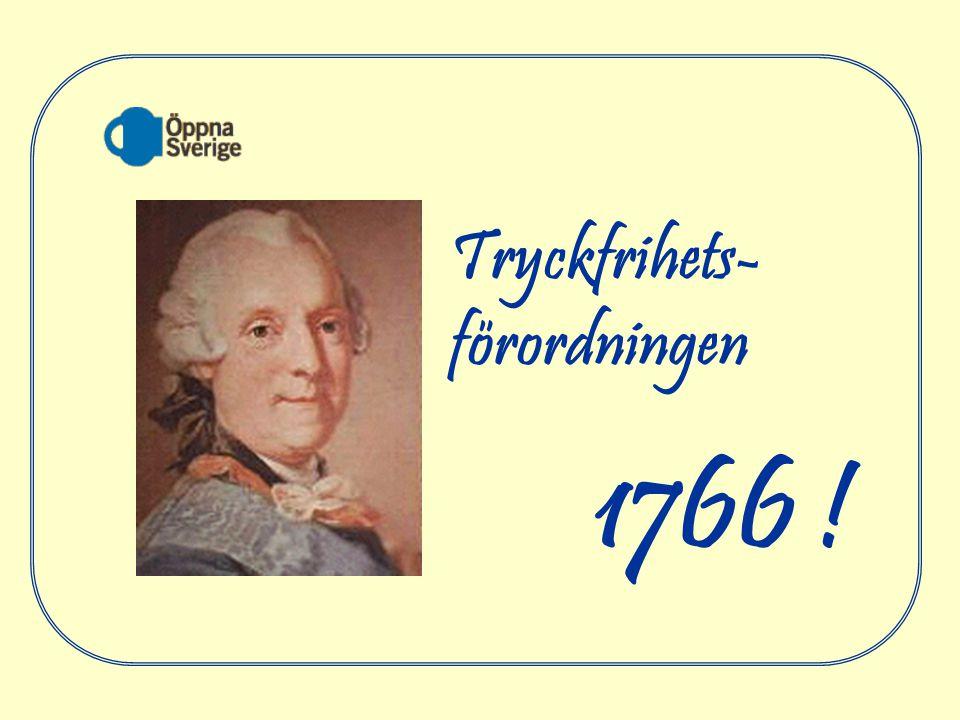 1766 ! Tryckfrihets- förordningen