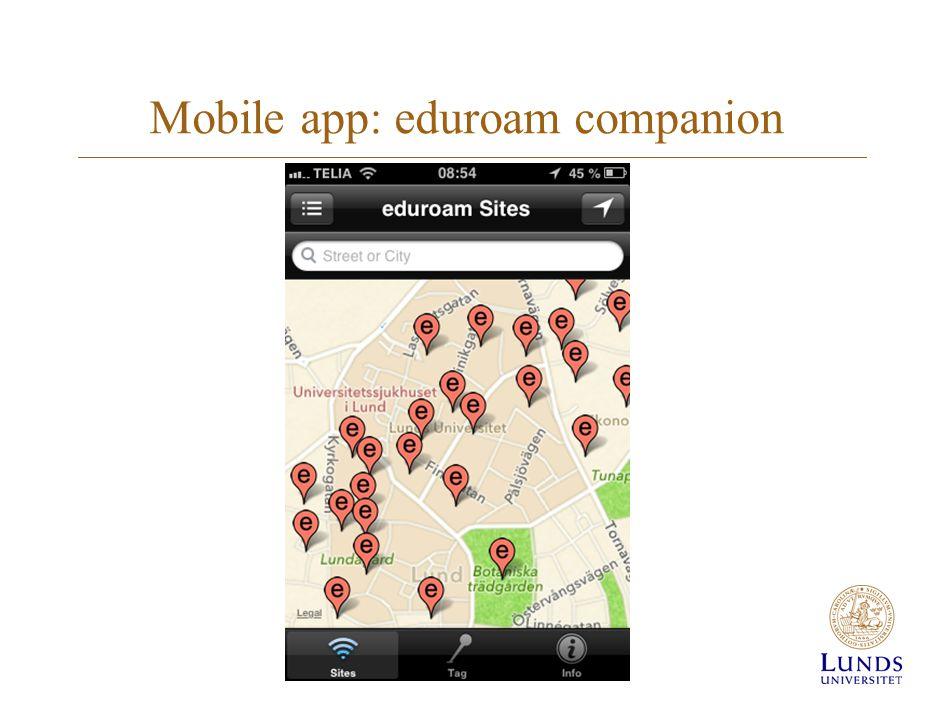 Mobile app: eduroam companion