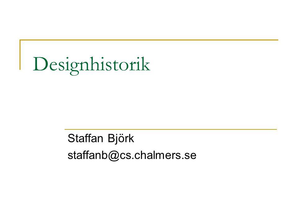 Modern Design – Ett exempel Design Mönster  Christoffer Alexander m.fl.