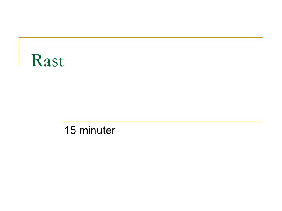 Rast 15 minuter