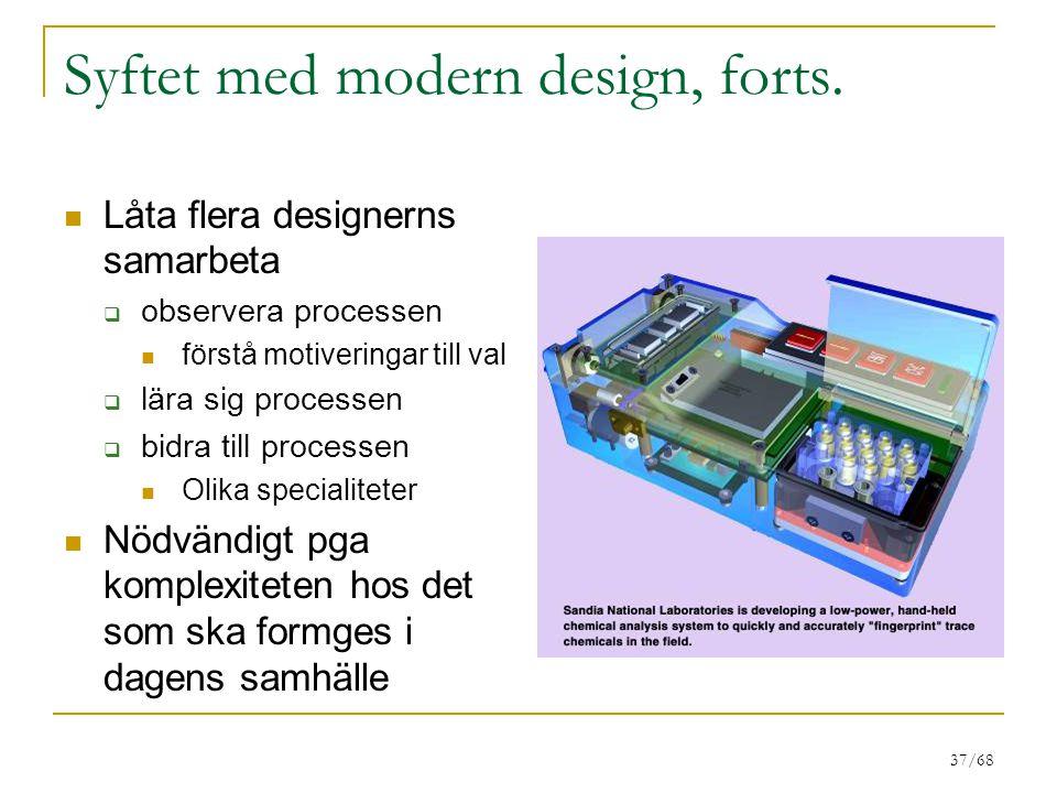 37/68 Syftet med modern design, forts.