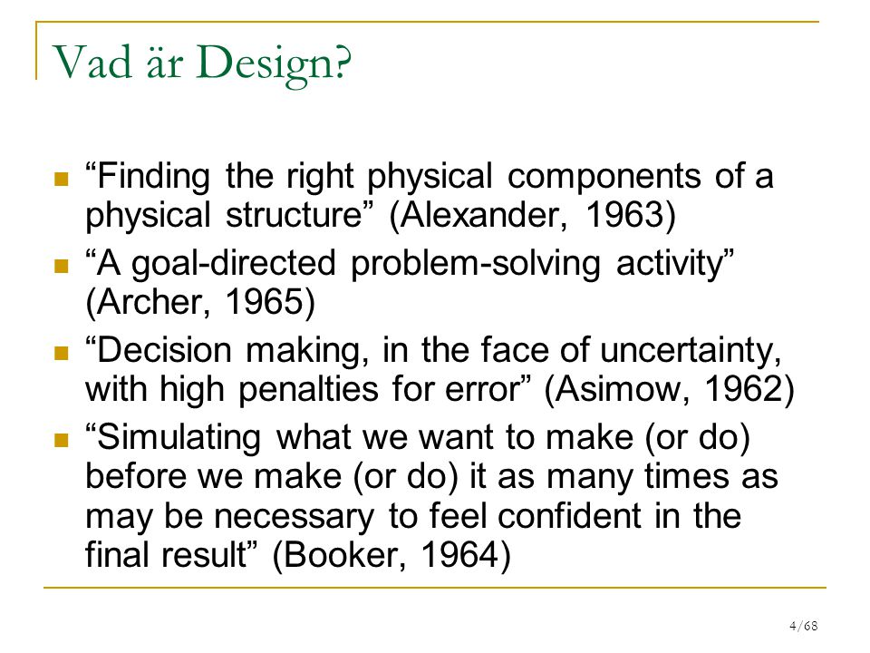 4/68 Vad är Design.
