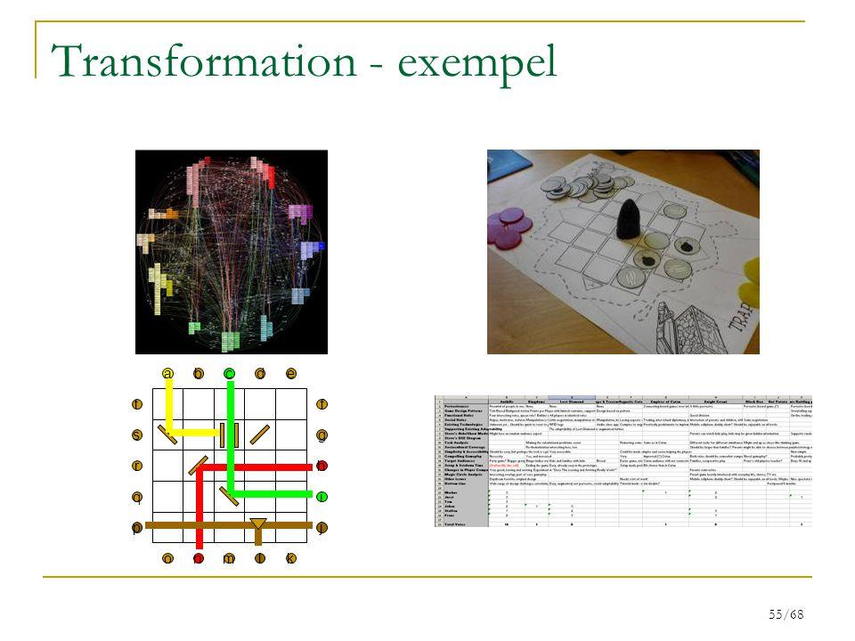 55/68 Transformation - exempel bcdea t s r q p f g h i j nmlko